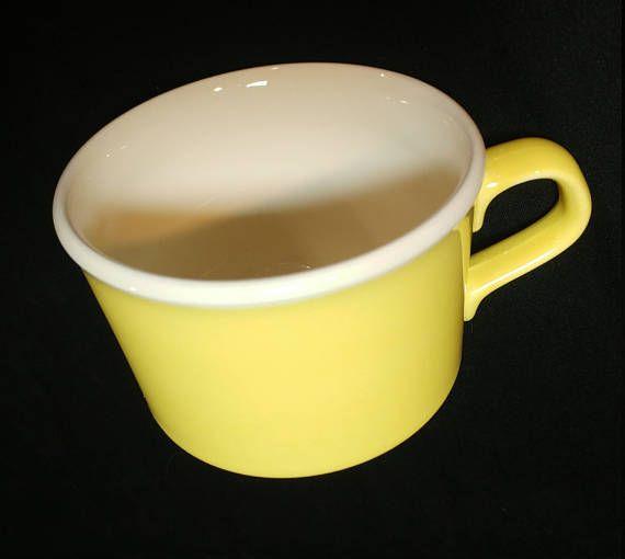Mugs USA Pottery Yellow Coffee Cups Vintage Yellow Pottery Mug