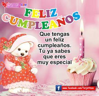 Tarjetitas : HAPPY BIRTHDAY - FELIZ CUMPLEAÑOS