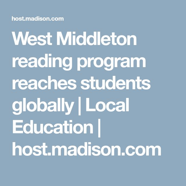 West Middleton reading program reaches students globally   Local Education   host.madison.com