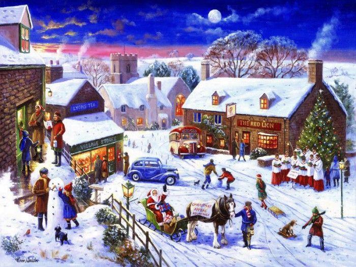 Новым, картинка художников рождество