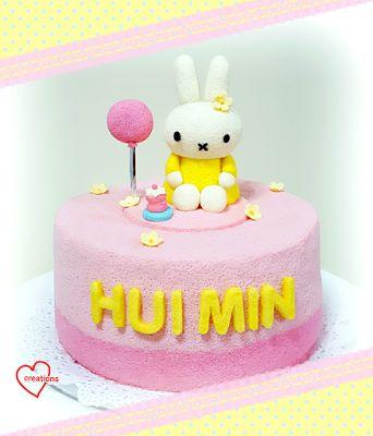Loving Creations for You: 'Miffy Birthday' Strawberry Yoghurt Chiffon Cake