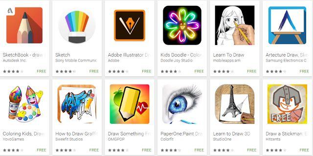 10 Aplikasi Menggambar Terbaik  Dan Membuat Sketsa Di Android