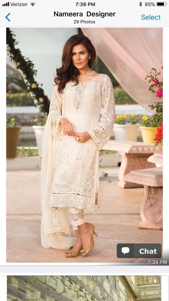 565e9ea87a Buy Pakistani Chiffon Dress by Jazmin Online - Pakistani Designer Dresses  in USA at Nameera by Farooq, Beautiful Chiffon Dress by Jazmin Work  Embellished ...