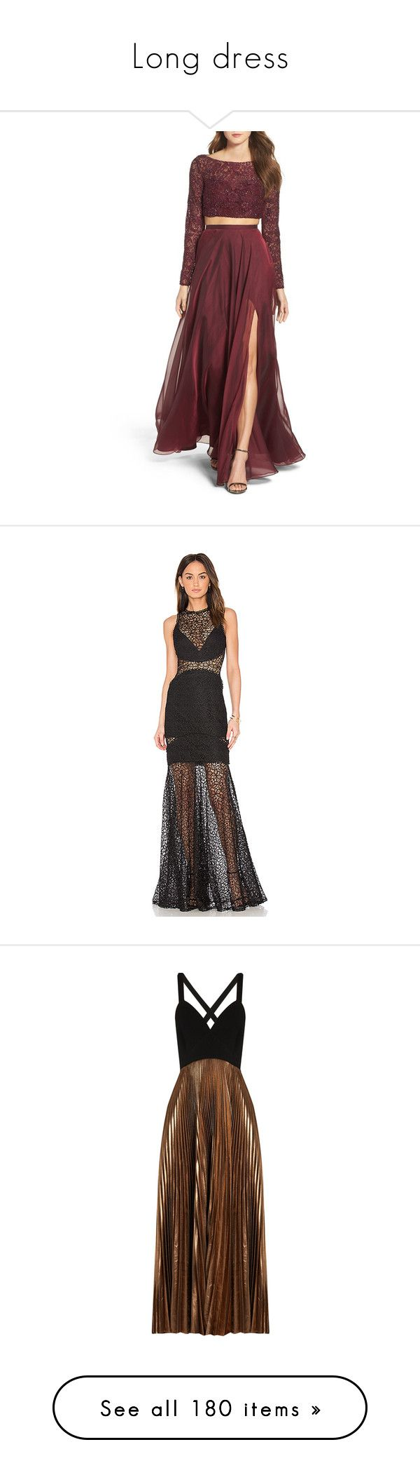 """""""Long dress"""" by opaqueaura ❤ liked on Polyvore featuring dresses, gowns, garnet, red lace ball gown, red lace gown, red lace dress, red ball gown, lace gown, crochet evening dresses and lace ball gown"""