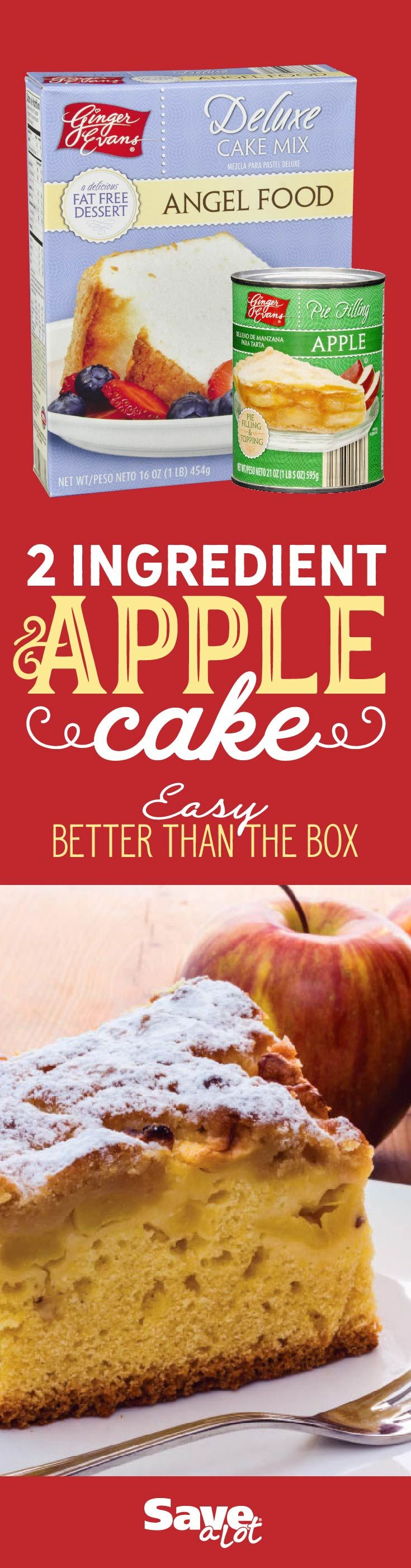 Fall Dessert | 2 Ingredients | Better Than The Box | Cheap | Budget Friendly Dessert | EASY | Fast | Dessert | Fall Dessert | Apple Cake | One Pan Dish | One Pan Dessert | Fall Party | Angel Food | Canned Apple Filling | Dessert for Crowd | #savealotinsiders