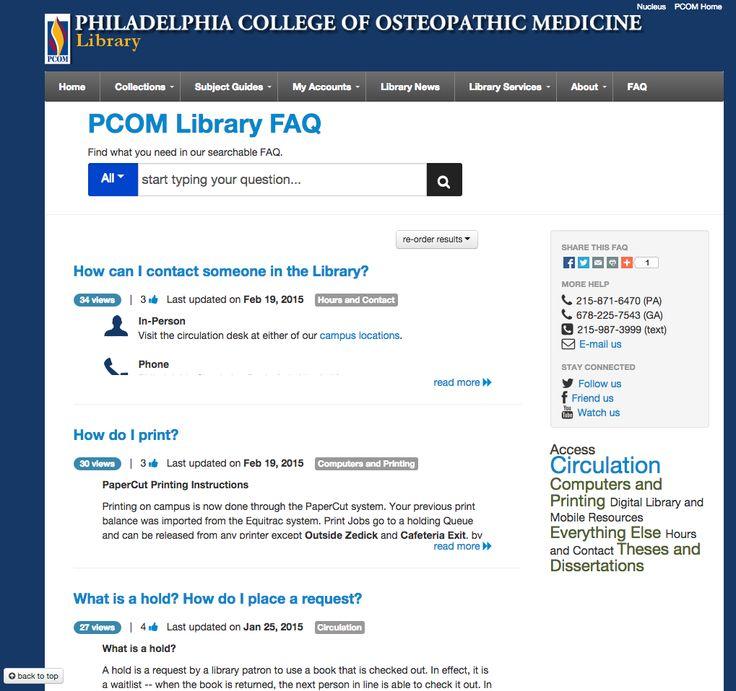 Philadelphia College of Osteopathic Medicine Library