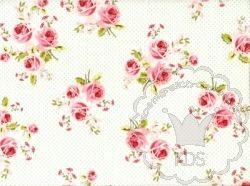 """Königreich der Stoffe - Popeline Collection """"Summer Loft"""" Blütentraum weiß-mint -"""