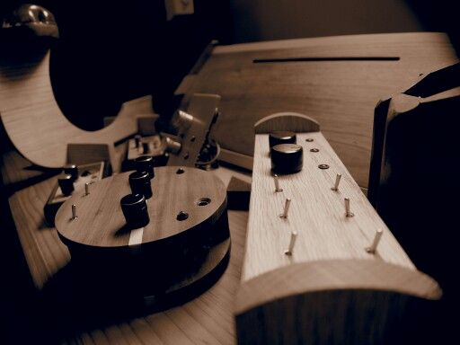 Getting ready for an exhibition. #bungendore #woodwork #experimental #music