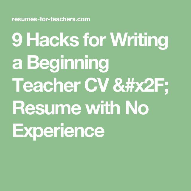 50 best Teaching job tips images on Pinterest Teaching jobs - beginning teacher resume