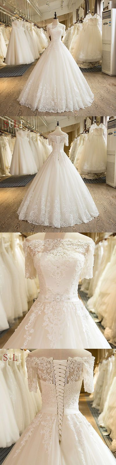 White/Ivory Wedding Dresses Lace Bridal Gown  http://www.inews-news.com/women-s-world.html#.WPRW9fkrLRY