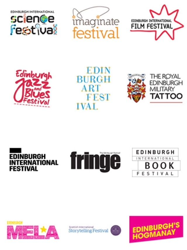 12 Festivals in Edinburgh - which ones will you go to? My favourite might just be the EDINBURGH Art Festival. Or is it the EDINBURGH Book Festival? So much to enjoy.