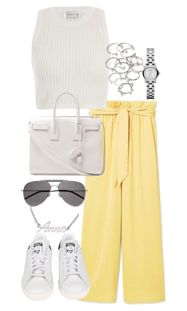 """Untitled #4002"" by theeuropeancloset on Polyvore featuring MANGO, Zimmermann, Marc by Marc Jacobs, Forever 21, adidas, Yves Saint Laurent and ANNA"