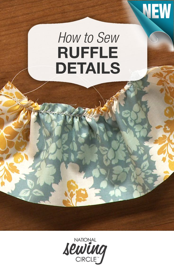 Here's a new and simple way to add ruffle detailing to your projects http://bit.ly/1RBwr50 #LetsSew