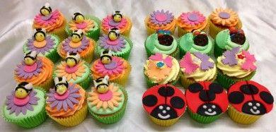 Buzzing bee & Garden Bug Box Cupcakes