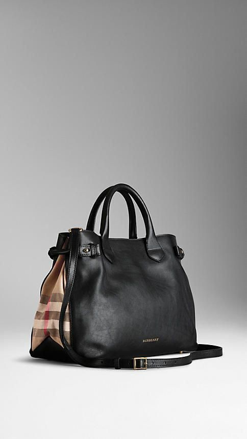 040c3cf8705d The most perfect bag... it literally makes me tingle  O - Medium House Check  Detail Leather Tote Bag