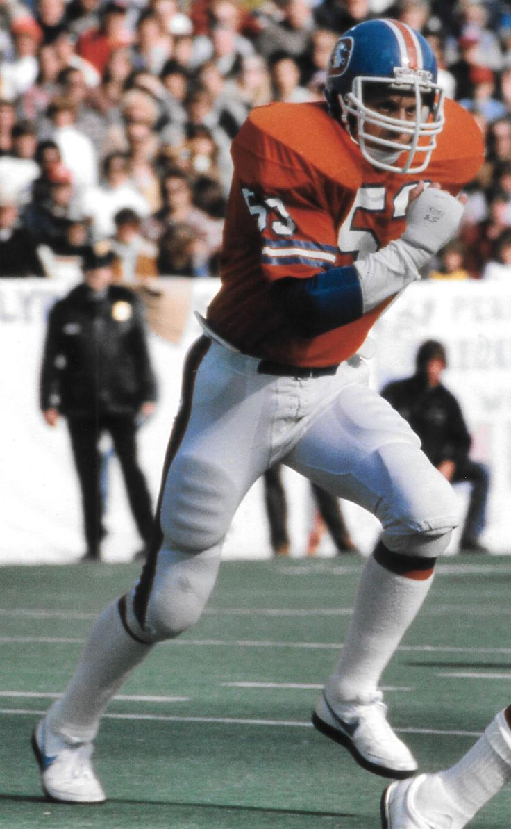 Denver Broncos linebacker RANDY GRADISHAR (53) 1974-83 Ohio State All-Pro Never missed a game in his ten seasons as a Bronco!!