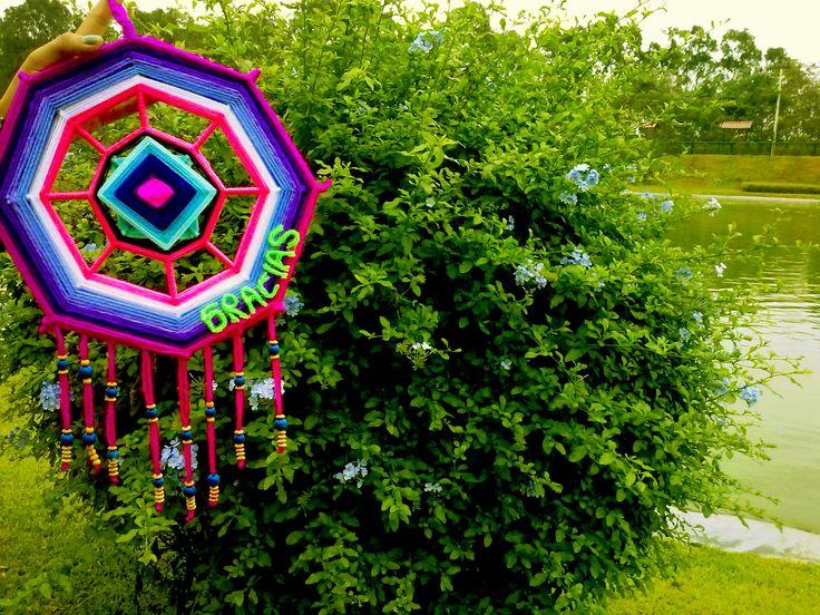 Colgante Mandala   SAMI    [Portador de felicidad]  // [Carrier happiness]  // [Felicidade portador]