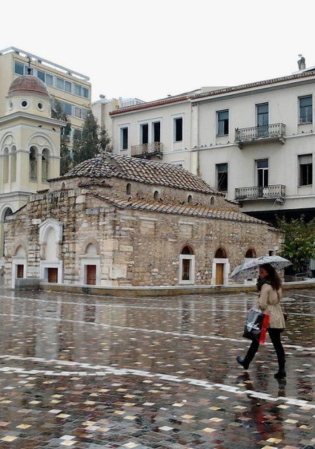 Raining at Monastiraki square, Athens, Greece | Flickr - Photo by gichristof