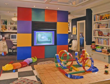 Create a Kids' Room.  I like this for the play zone but mostly for the idea of the chalk-board paint walls.