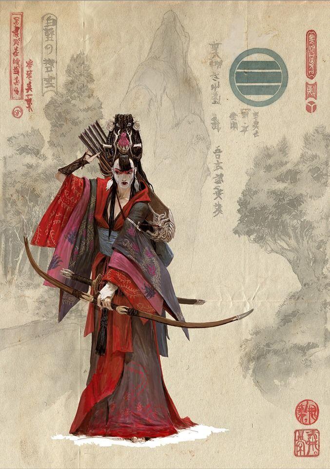 Resultado de imagem para oriental game illustration