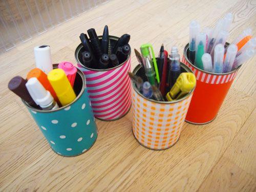 pots à crayons et papier cadeau www.tambouille.fr