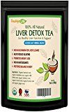 Liver Detox tea with burdock root dandelion for liver cleanse detoxifier & regenerator with milk thistle  60 gms   Made in USA  USDA Certified