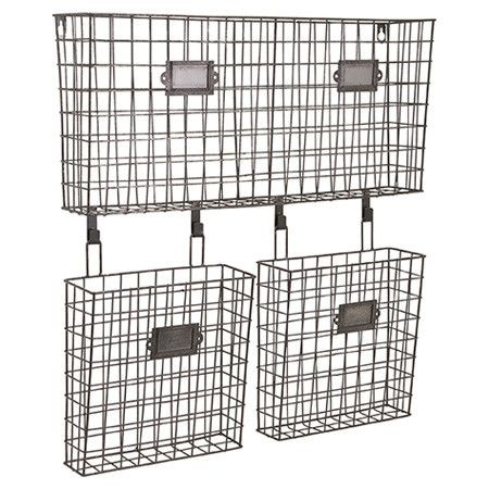 Get organized in understated style with this wire wall organizer, featuring ample space for your storage needs.  Product: Wall o...