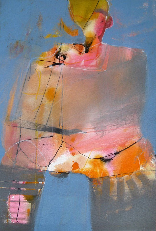 Orange Sunshine by Stan Kurth -  21 X 14 inches -  Transparent Watercolor, Acrylic and Gesso on Paper