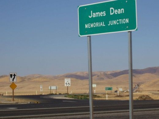It is right near this sign that the James Dean car crash happened and that the ghost of James Dean is often seen hitchhiking.