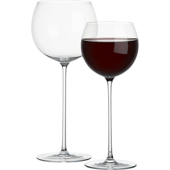 Camille Wine Glasses from Crate and Barrel (Yes... this is the Olivia Pope red wine glass from Scandal!)