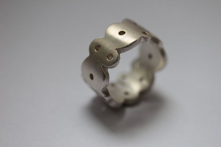 "Silver ""Circles"" ring by Robyn Manning"