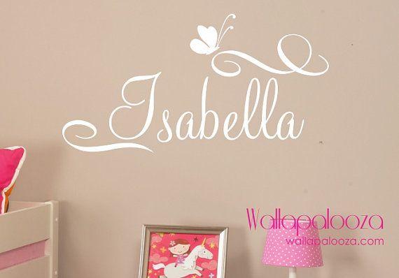 Girls Name Wall Decal  Custom name wall by WallapaloozaDecals, $23.00