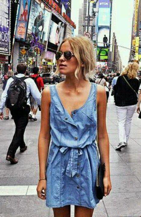 denim dress - cool looking... HotWomensClothes.com