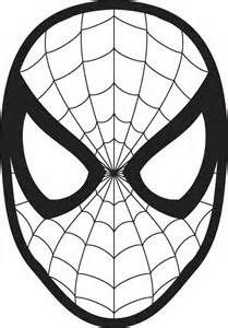 Spiderman Face Drawing Spiderman face