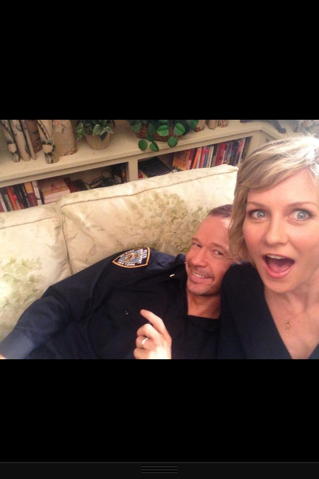 Blue Bloods Donnie Wahlberg and Amy Carlson