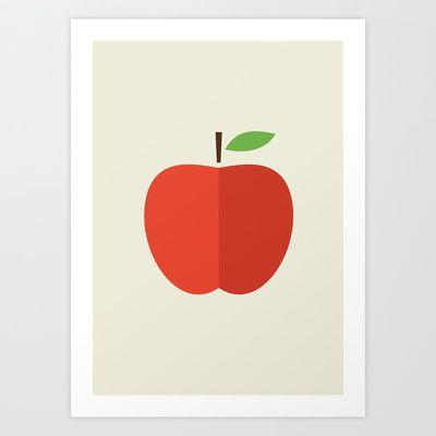 Apple 17 Art Print by Rhett