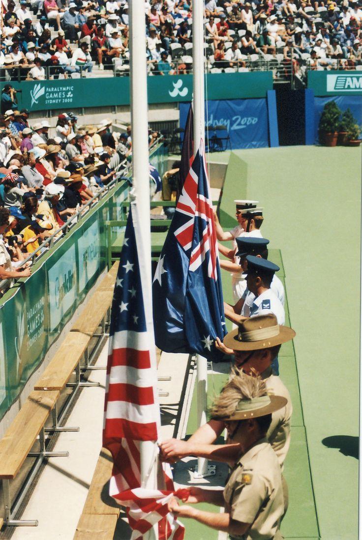 Sydney 2000 ParaOlympic Mens Singles Tennis Flag Ceremony