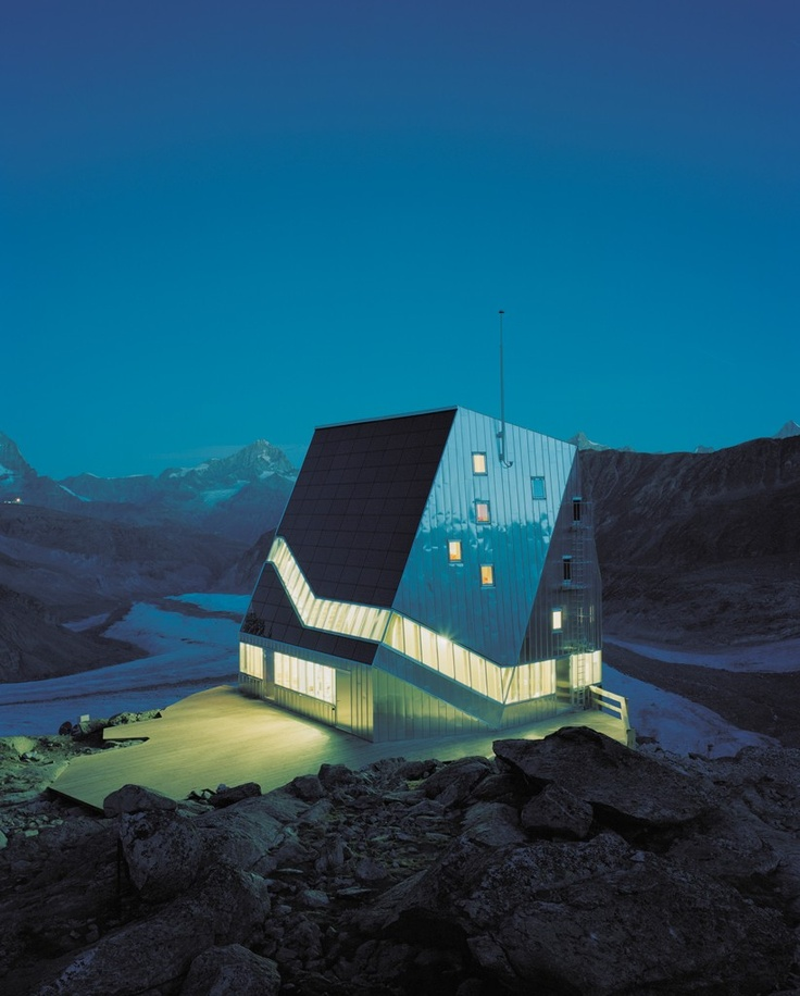 NEUE MONTE ROSA HÜTTE / built on the ETH's 150 year annivesary, this building is a 3-5 hour hike from other means of transport, only for the most dedicated of architecture fans / via jim