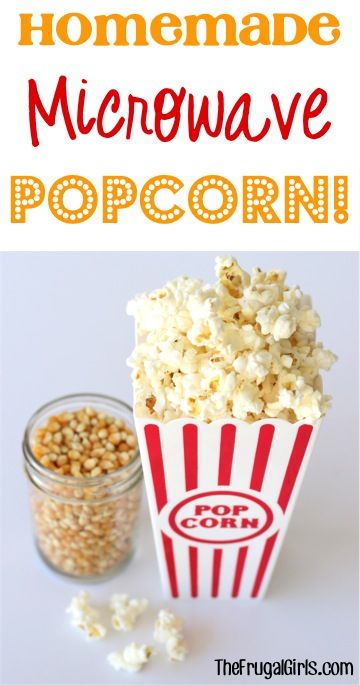 How to Make Homemade Microwave Popcorn! {this is SO simple, tastes delicious, and is a great $$-saver, too!}