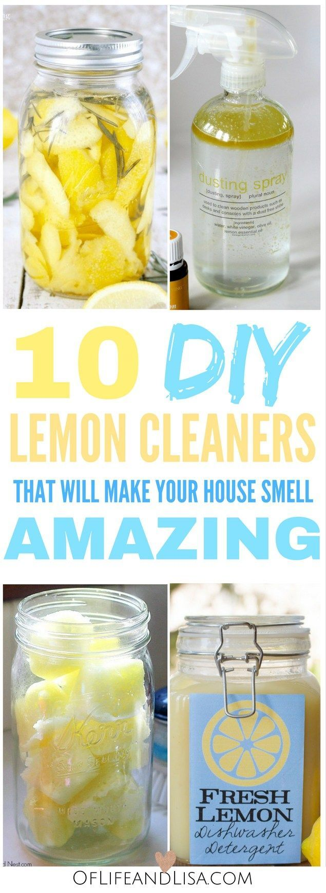 These non-toxic lemon cleaners are perfect for cleaning house.