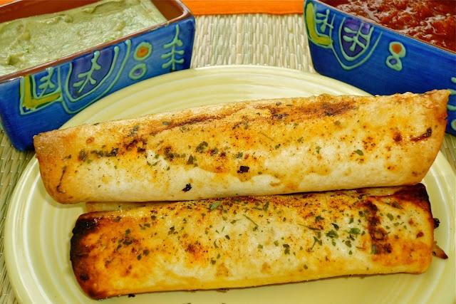 Crispy Chicken Tortilla Rollups & Spicy Avocado Crema