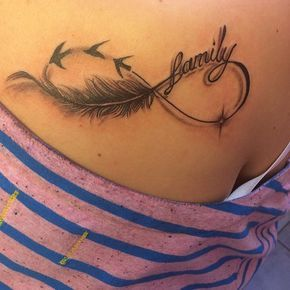 infinity feather birds tattoo - Google Search More
