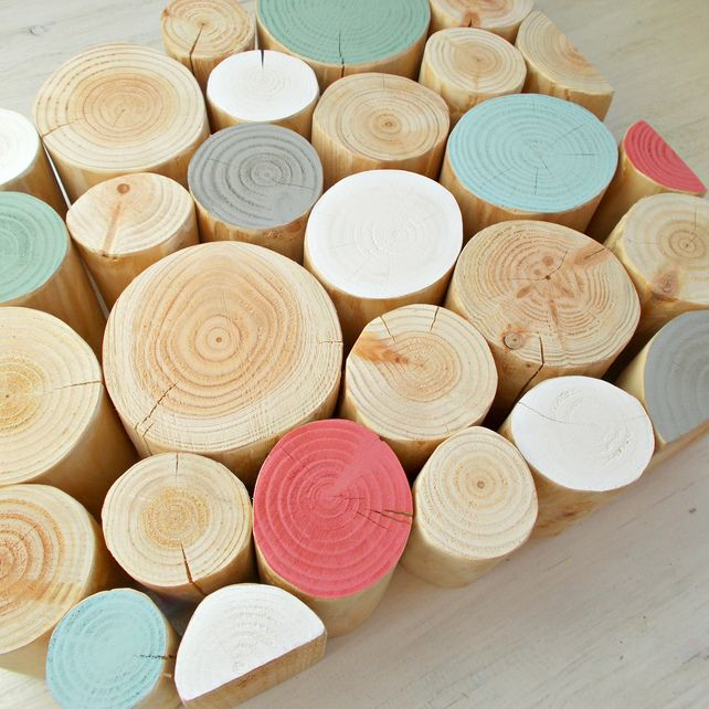 HERITAGE Colour Mix 10cm Decorative Logs   Using Paint From The Little  Greene Paint Company