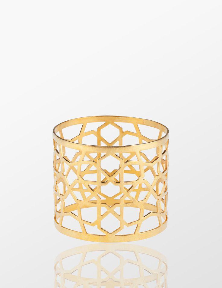 Nak's Rumi Napkin Ring( Gold ) - Myra Store
