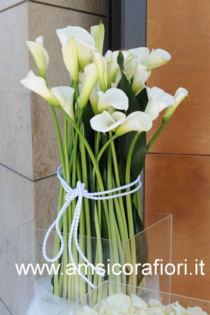 Amsicora - Allestimento floreale chiesa per tema matrimonio a tema marino a margherita di savoia (Foggia) con calle bianche sea theme wedding flowers