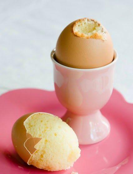 Kuchen im Ei - außergewöhnlicher Nachtisch für Ostern