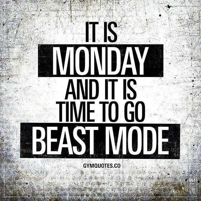 Reposting Proteinoversugars Happy Monday Everyone Monday Beastmode Gym Proteinoversugars I Monday Motivation Quotes Fitness Motivation Quotes Gym Quote