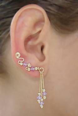 Gold or Silver Ear Sweeps/Pins with Swarovski от DAlatrouCreations, $34,99 - fun