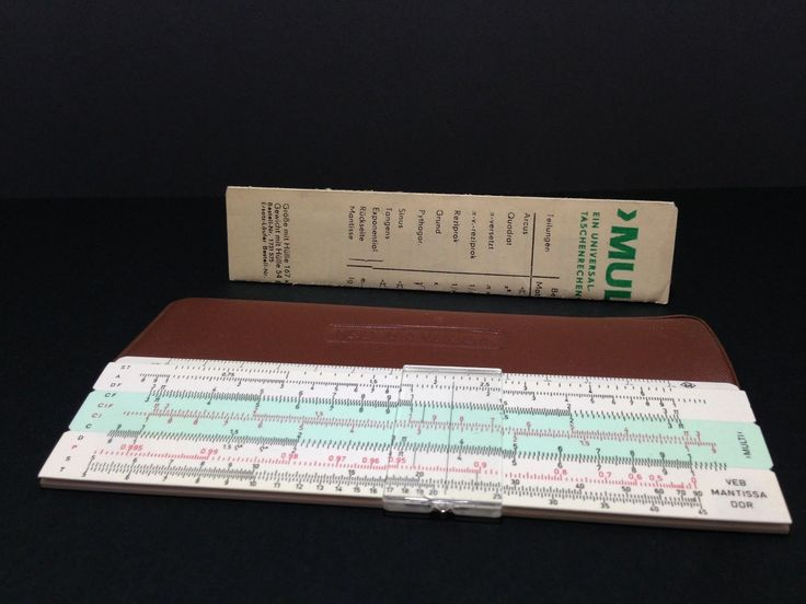 Details about  Vintage Slide Rule Multi Web Mantissa DDR Germany Dresden Taschenrechenstab Old