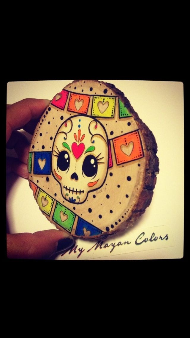 Skulls Painting by My Mayan Colors, https://www.etsy.com/shop/MyMayanColors